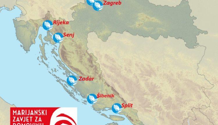 Molitva krunice za Domovinu u 8 gradova Lijepe naše – od 12.4. i u Zadru i Šibeniku