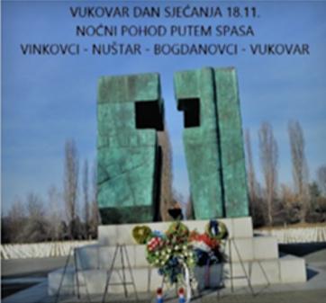 """Noćni pohod """"Putem spasa"""" Vinkovci – Vukovar 17.-18.11.2018. kroz kukuruzni put"""